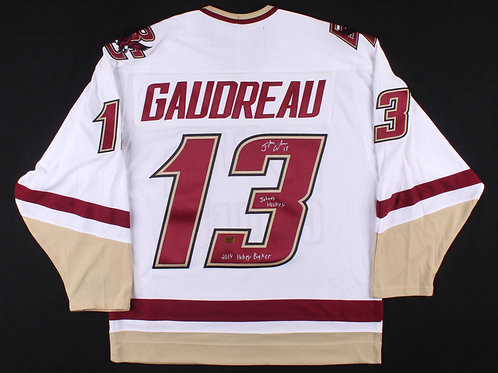 Johnny Gaudreau Boston College Sign Autograph Hobey Johnny Hockey Jersey Flames