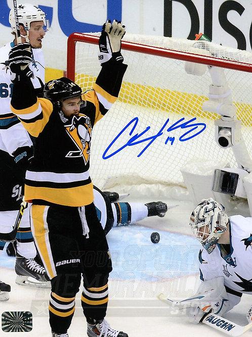 Chris Kunitz Pittsburgh Penguins Signed Autographed Goal Celebration Finals 8x10