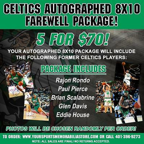 Boston Celtics Signed Autographed 8x10 Farewell Package 5 for $70 Rondo Pierce