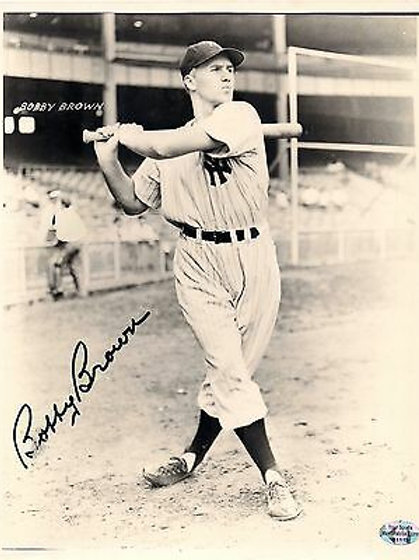 Bobby Brown New York Yankees vintage signed autographed 8x10