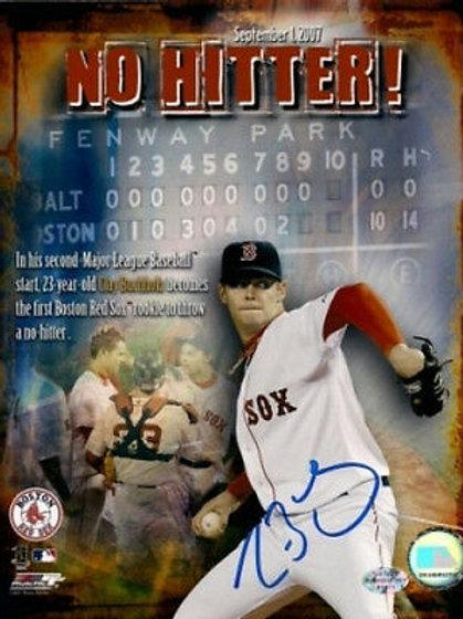 Clay Buchholz Boston Red Sox signed no hitter 8x10 COA