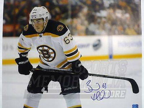 Brad Marchand Boston Bruins Signed Autographed Up Close Away Game 16x20 B