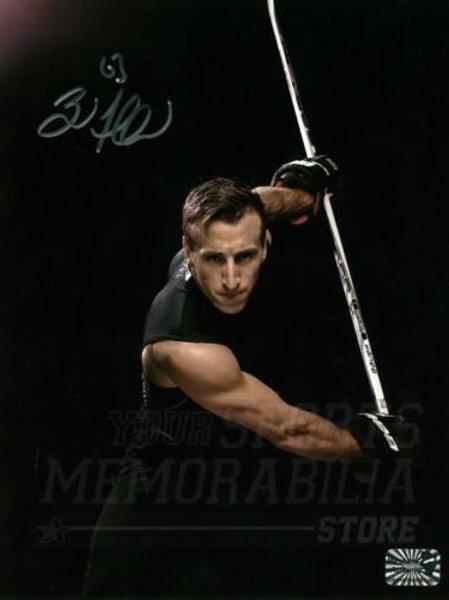 Brad Marchand Boston Bruins Signed Autographed Slap Shot Pose Photoshoot 8x10