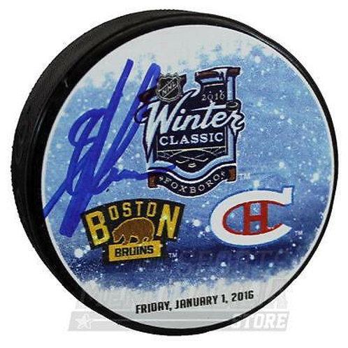 Alexander Khokhlachev Boston Bruins Signed Autographed 2016 Winter Classic Puck