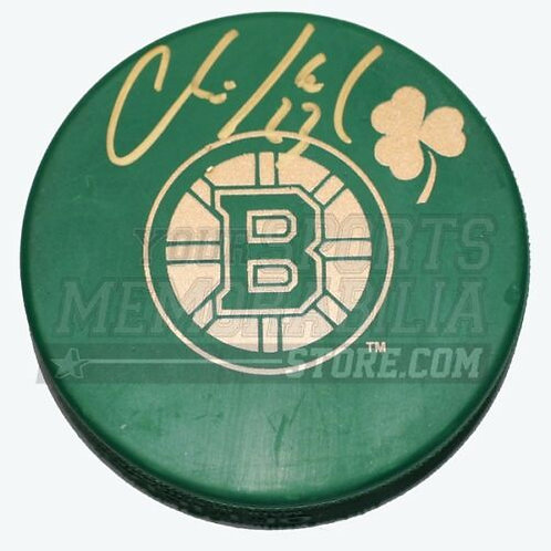 Chris Kelly Boston Bruins Signed Autographed St. Patrick's Day Hockey Puck