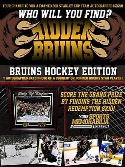 Boston Bruins �Hidden Bruins� Signed Autographed 8x10 Hockey Edition 10/Pack