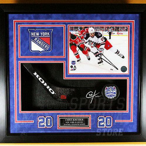 Chris Kreider New York Rangers Sign Autograph Stadium Series Stick Blade Framed