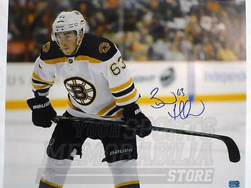 Brad Marchand Boston Bruins Signed Autographed Up Close Away Game 16x20 C