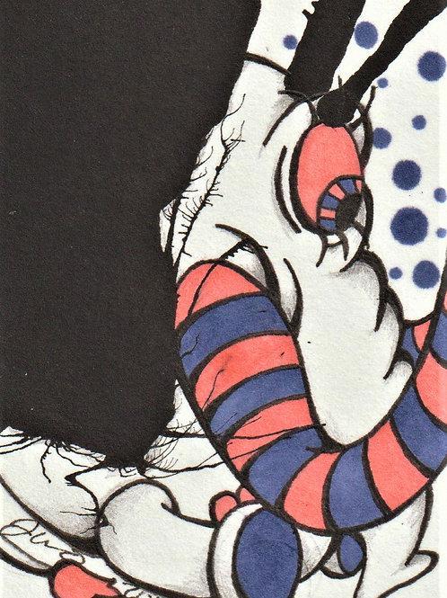Mini - Inkblot Monster #5 *Print*