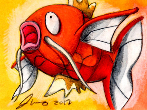 Mini - Pokemon Magikarp *Print*