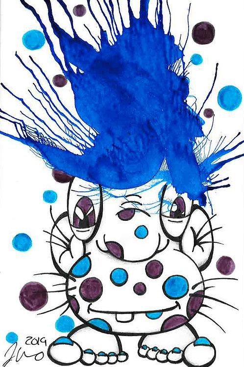 Inkblot Monster #20 *Matted Print*
