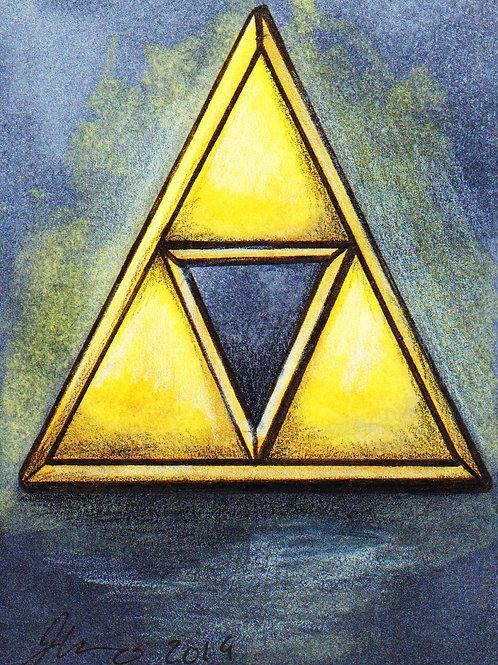 Mini - Triforce *Print*