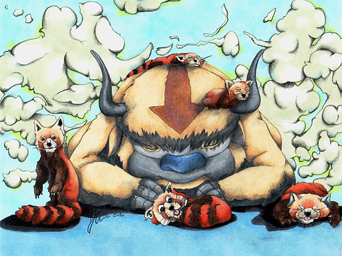 Sky Bison and Friends *Print*