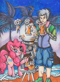 Codsworth, Pinky Pie and Monsuier Z Mash