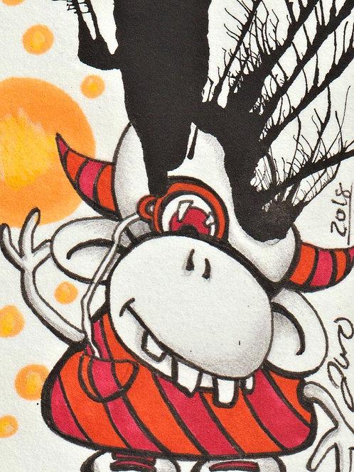Mini - Inkblot Monster #4 *Print*