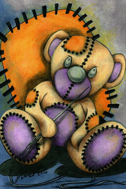 Teddy Bear - Stitches *Print*