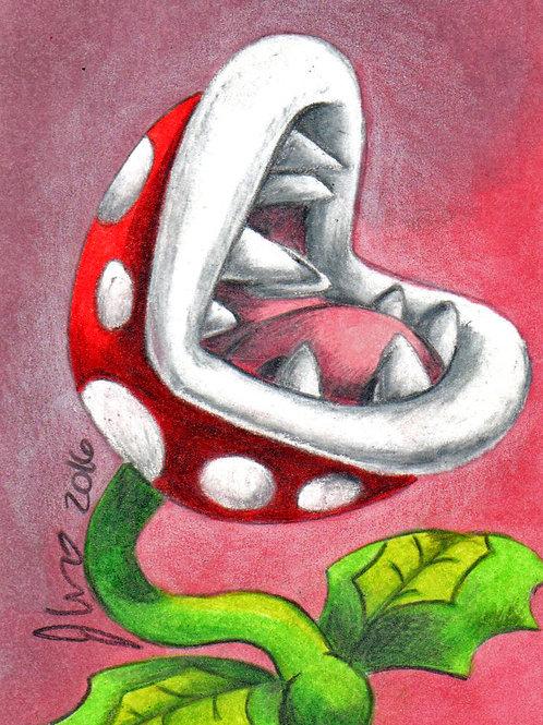 Mini - Mario Fly Trap *Print*