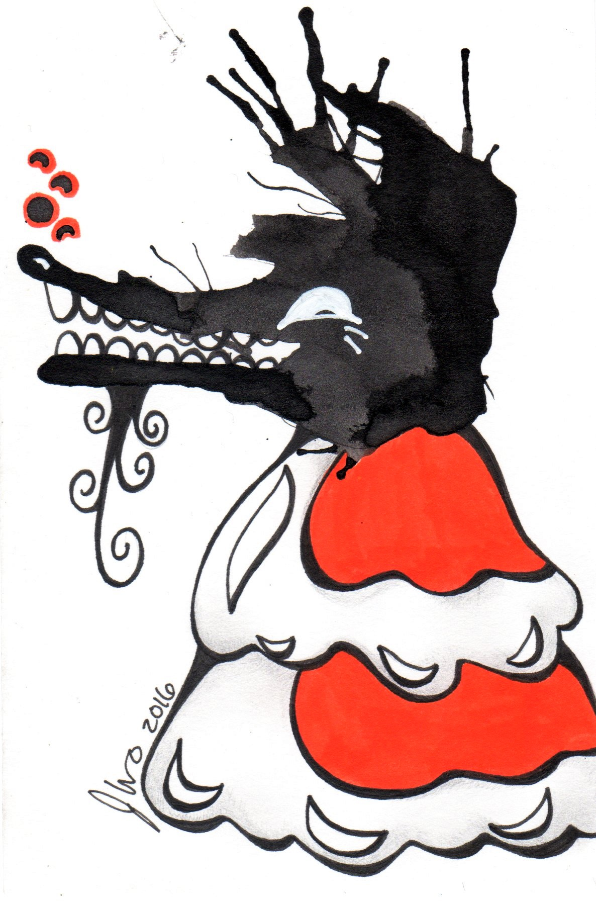 Ink Blot Monster #5