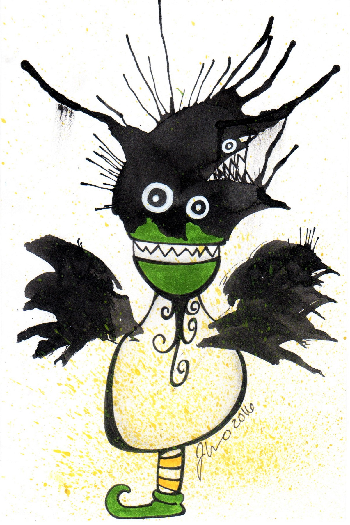 Ink Blot Monster #3