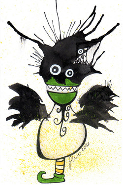 Ink Blot Monster #3