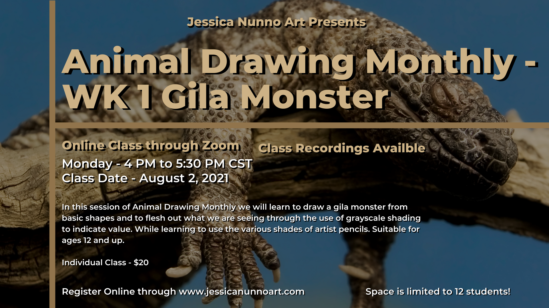 Animal Drawing - WK 1 Gila Monster
