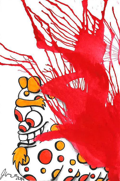 Inkblot Monster #18 *Matted Print*