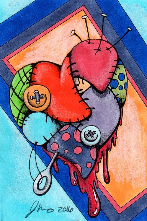 Patchwork Heart *Print*