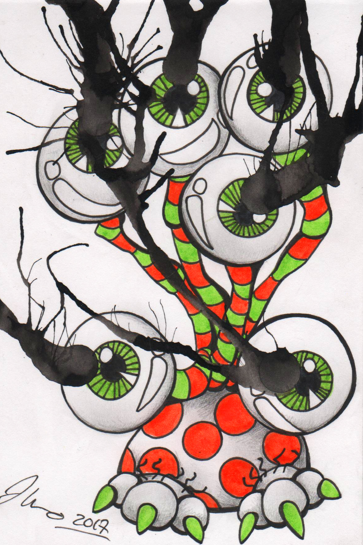 Ink Blot Monster #16