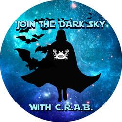 C.R.A.B. Theme Sticker 3x3 White Logo