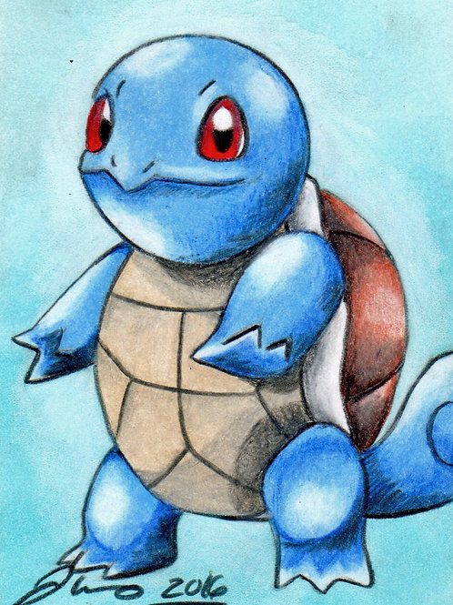 Mini - Pokemon Squirtle *Print*