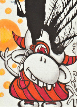 Inkblot Monster #4 Mini