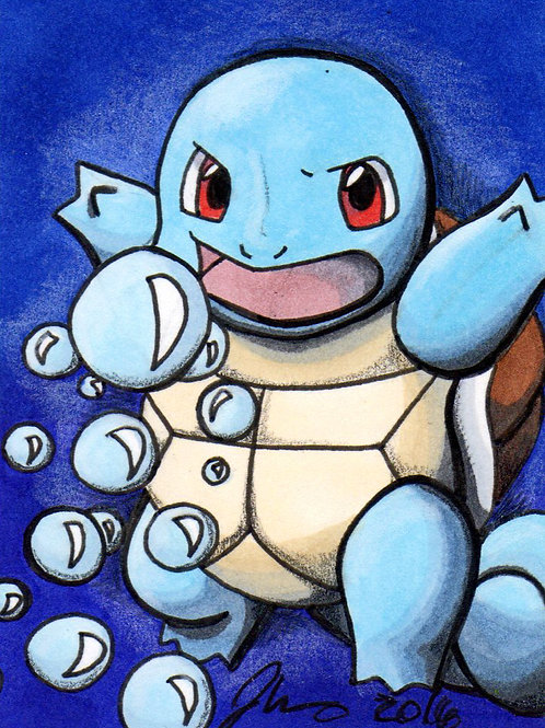 Mini - Pokemon Squirtle Bubble *Print*