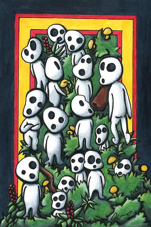 Studio Ghibli - Tree Spirits *Print*