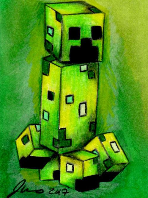 Mini - Minecraft Creeper *Print*