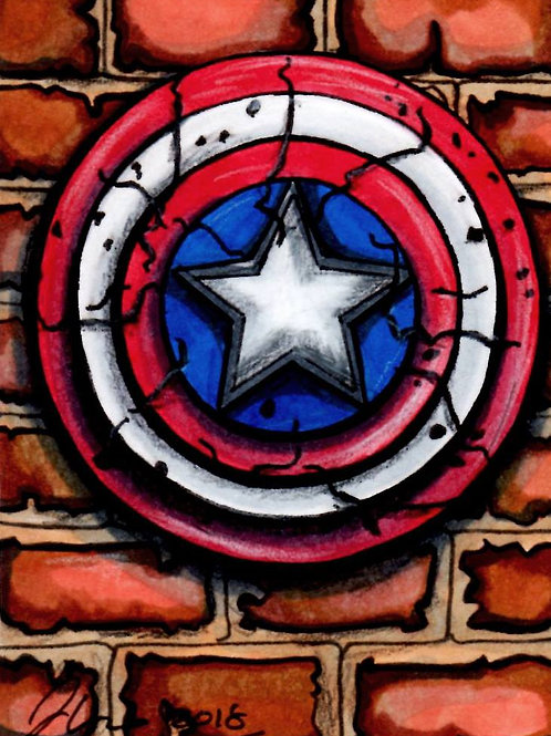 Mini - Marvel Captian America *Print*