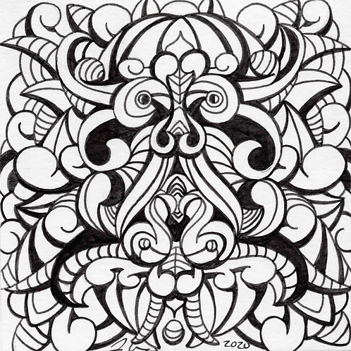 Coloring Book Page Mini - Abstract Design 1