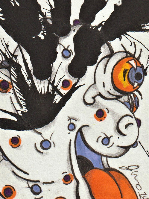 Mini - Inkblot Monster #3 *Print*