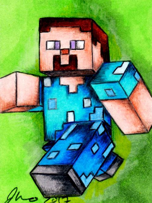 Mini - Minecraft Steve *Print*