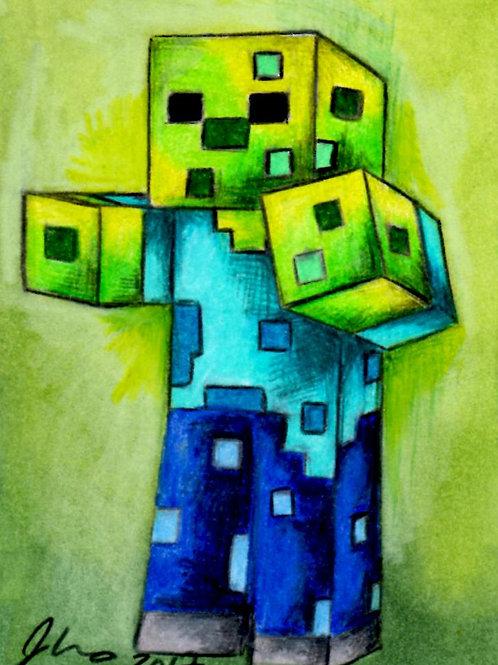 Mini - Minecraft Zombie *Print*