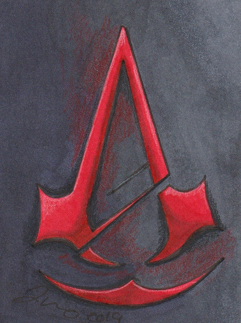 Mini - Assassins Creed Symbol *Print*