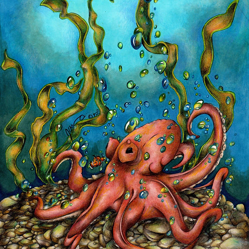 Unexpected Octopus *Print*