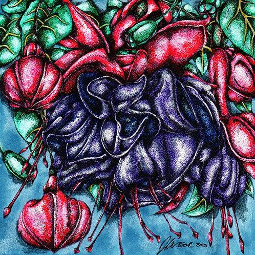 Fuschia Flower *Print*