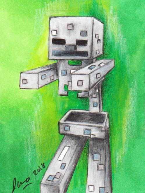 Mini - Minecraft Skeleton *Print*