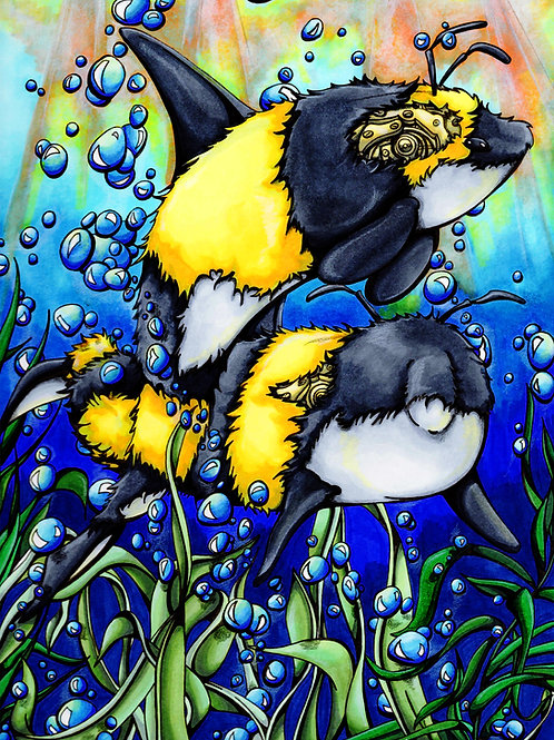 Bee Whales *Print*