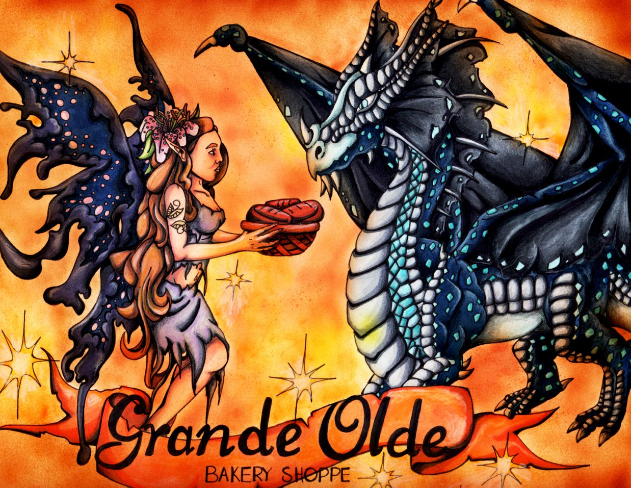 Grande Olde Bakery Shoppe Illustrated Lo