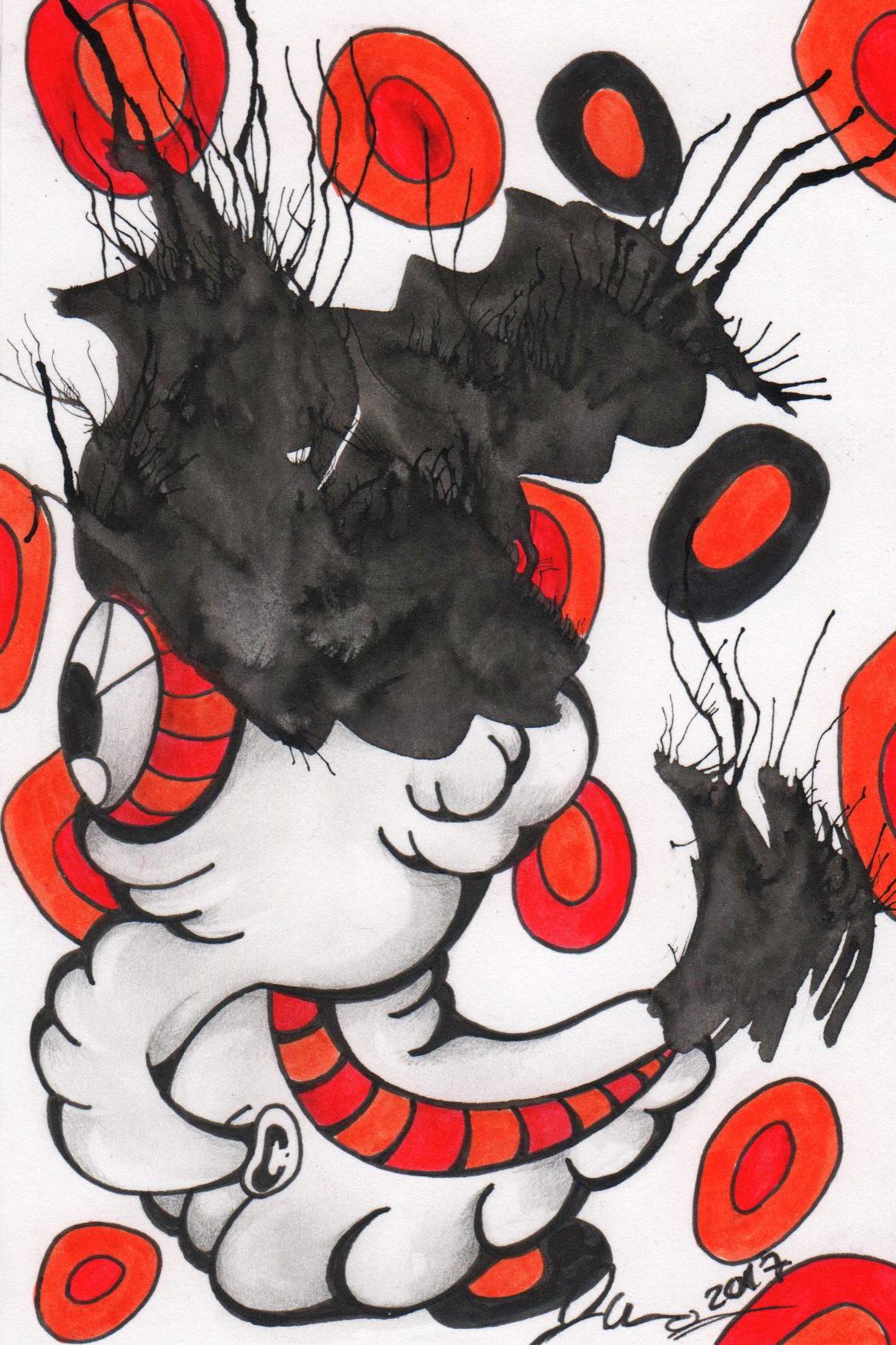 Ink Blot Monster #15