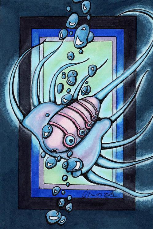 Subnautica - Jelly Ray *Print*
