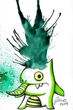 Inkblot Monster #19