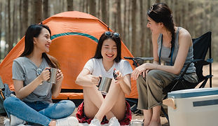 group-young-asian-friends-camping-picnic