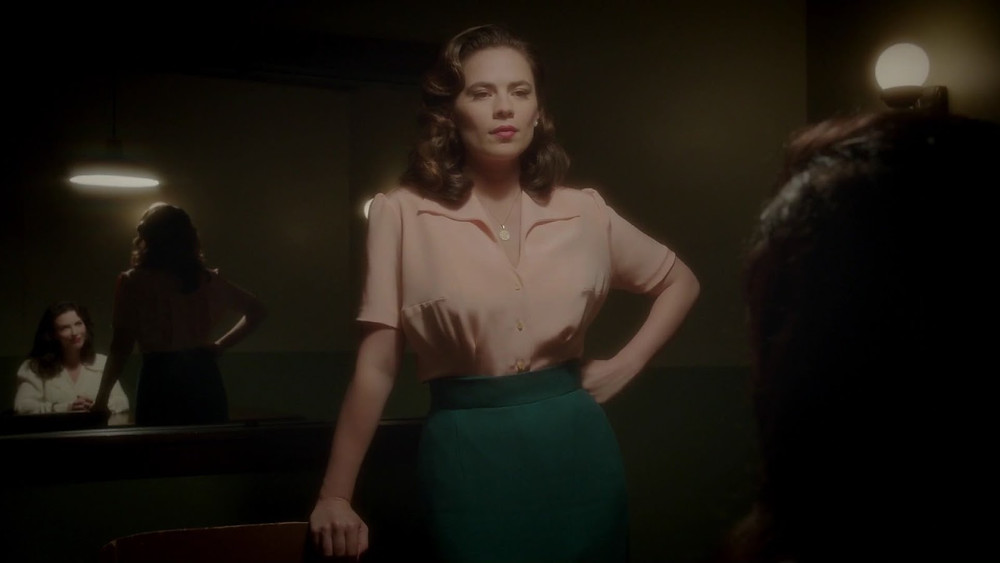 Hayley Atwell as Agent Peggy Carter in Season 2.